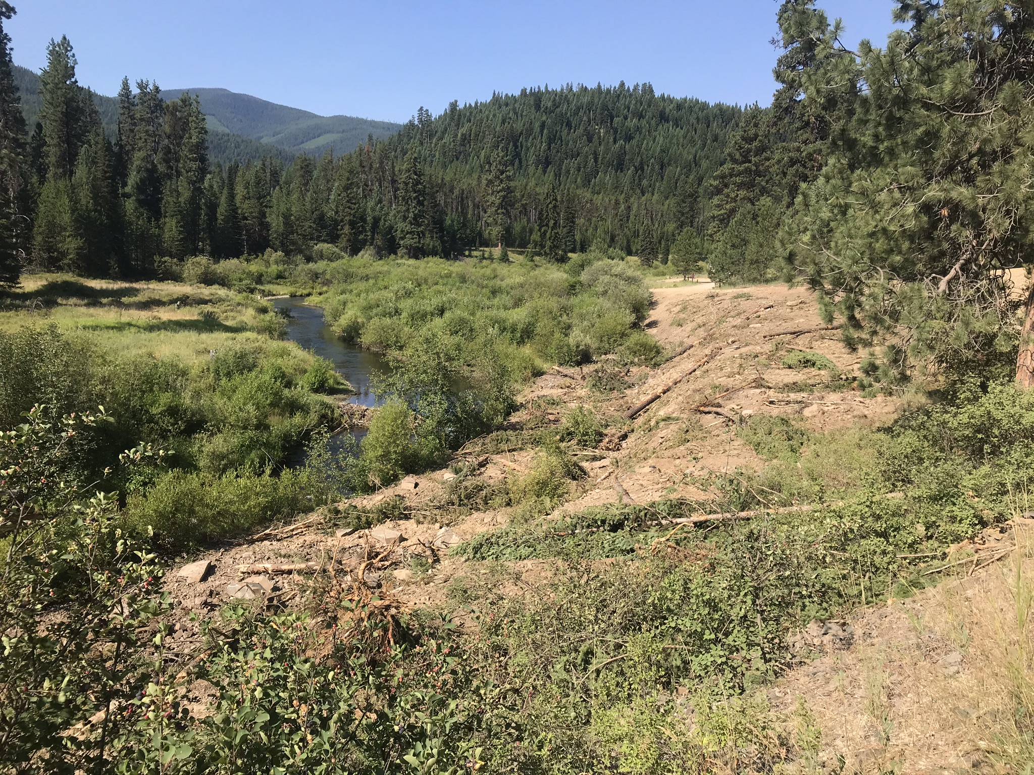 Partners move road away from Fishtrap Creek